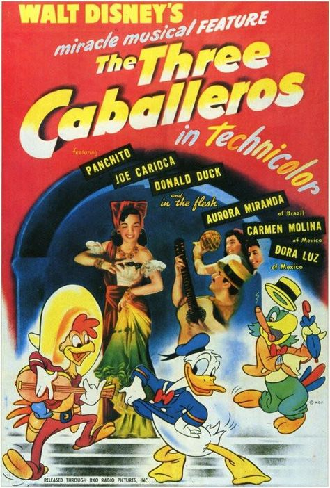 The Three Caballeros 27x40 Movie Poster (1944)