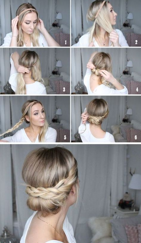 8 simple hairstyle ideas for less than 2 minutes  #hairstyle #hairstyles #Ideas #minutes #Simple