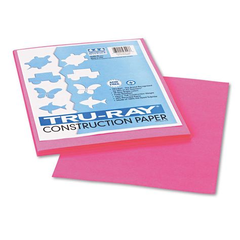 Tru-Ray Construction Paper Pink 9X12 50 Sheets