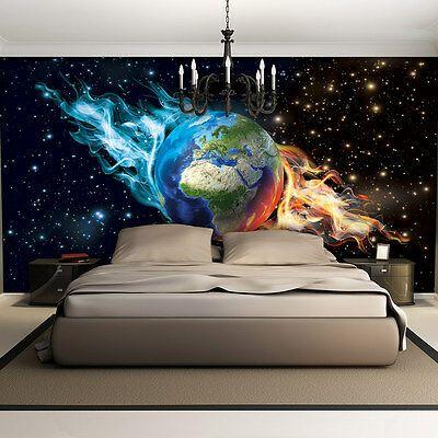 VLIES FOTOTAPETE FOTOTAPETEN TAPETEN POSTER Foto Erde Feuer Kosmos Stern 3749 VE