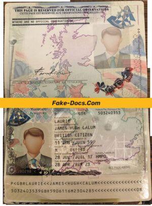 Japan Passport Psd Template 2