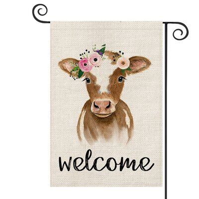 Avoin Colorlife Cattle 2 Sided Burlap 18 X 13 In Garden Flag In 2020 Garden Flags Burlap Flag Flag