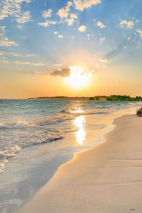 Summer Sea Sunset Beach Photography Backdrop X39-E - 3'W*5'H(1*1.5m)