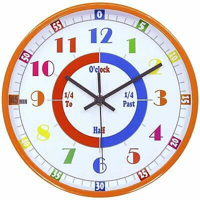 Kids Clock Bedroom Learning Time Educational Teaching Room Wall Home Decor Clock Fashion Home Garden Homedcor In 2020 Teaching Clock Clock For Kids Learning Time