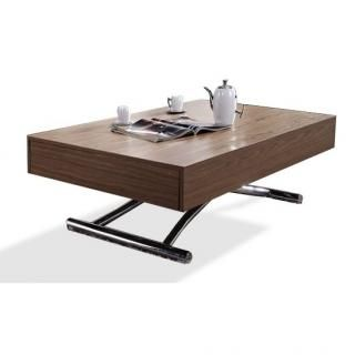 Table Basse Relevable Cube Noyer Extensible 10 Couverts Table Basse Relevable Table Basse Table Basse Relevable Extensible