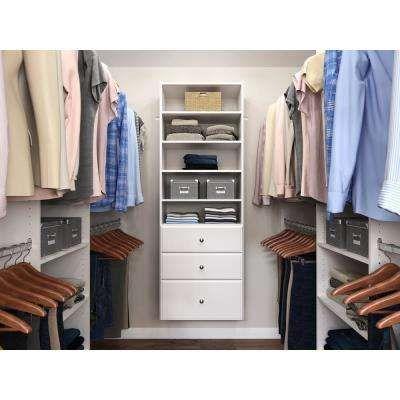 Closet Organizers Storage Organization The Home Depot In 2020 Wood Closet Systems Closet System Wood Closets
