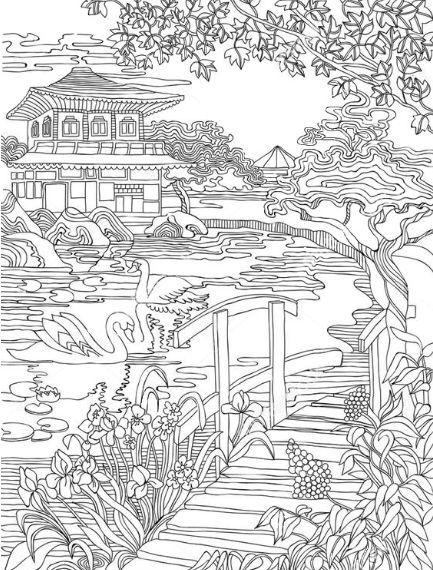 Omeletozeu Dibujos Japoneses Dibujos Para Pintar Paisajes