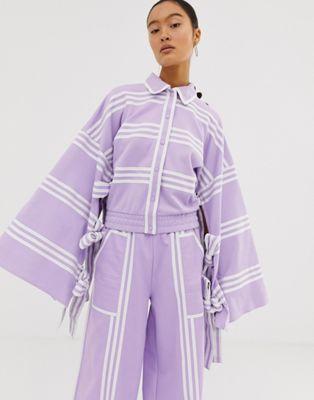 Kimono Adidas Mixed Stripe Ji En Won Purple Choi In Originals Glow X thQCrxsd