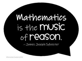 Inspirational Math Quotes Posters By Elementary Excellence Teachers Pay Teachers Math Quotes Mathematics Quotes Inspirational Math Quotes
