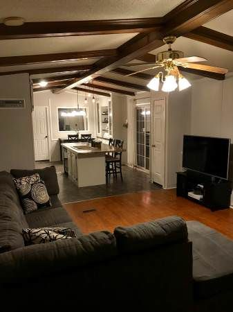 Open Floor Plan In A Single Wide Remodel With Images Single