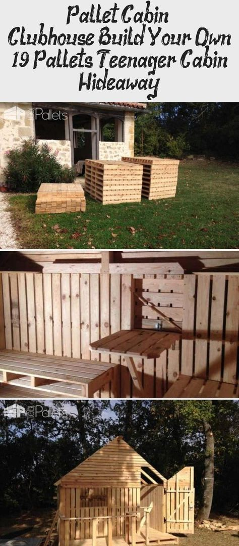 19 Pallet Teenager Cabin Hideaway Fun Pallet Crafts for Kids Pallet Sheds, Palle... -  19 Pallet Teenager Cabin Hideaway Fun Pallet Crafts for Kids Pallet Sheds, Palle… – Wooden Cabi - #Cabin #Crafts #fun #hideaway #Kids #outdoorcabanas #outdoorchapel #outdoorsunroom #Palle #Pallet #palletshed #shedgreenhouse #shedplans #sheds #Teenager