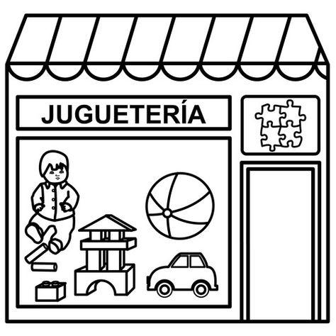 Dibujos De Tiendas Para Colorear Jugueteria Tiendas Y