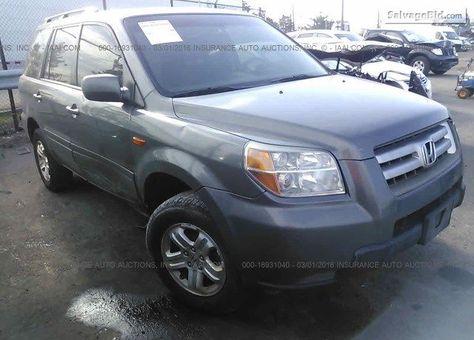 2008 #Honda Pilot for Sale at Salvage #SUVs #Auctions