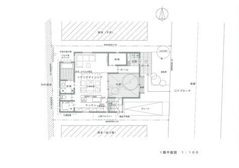 中庭 パティオ のある家 の間取り 建築家のスケッチブック