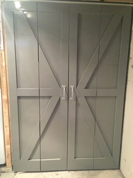 Turn Your Bi Fold Doors Into Barn Doors #bifolddoor #barndoor #makeover |  Everyday Home Decor | Pinterest | Bi Fold Doors, Barn Doors And Prefab