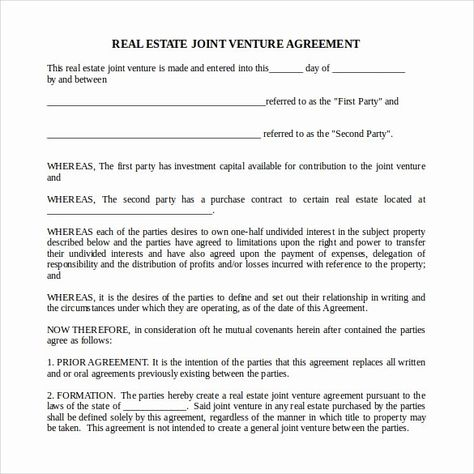 Real Estate Contract Template In 2020 Real Estate Contract