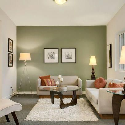 15 Contemporary Grey And Green Living Room Designs Home Design Lover Accent Walls In Living Room Living Room Green Sage Green Living Room