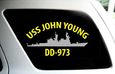 USS JOHN YOUNG DD 973 Silhouette Decal U S Navy USN Military