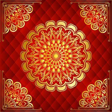 ترف خلفية ماندالا مع نمط الأرابيسك الذهبي نمط الشرق العربي الإسلامي Mandala Background Arabesque Pattern Mandala