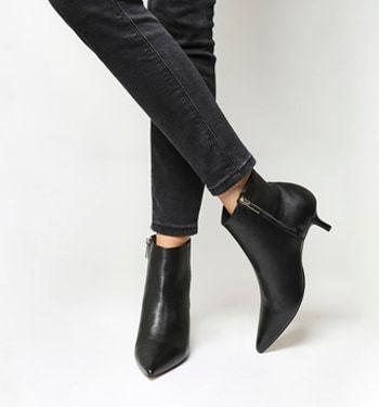Alibi Kitten Heel Boot Botines Negros Botines Zapatos