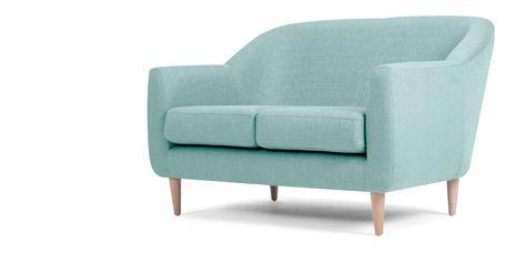 Tubby, un canapé 3 places, bleu turquoise | made.com 500€ | home ...