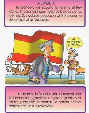 La Constitucion Espanola Para Ninos Explicacion Bandera Escudo