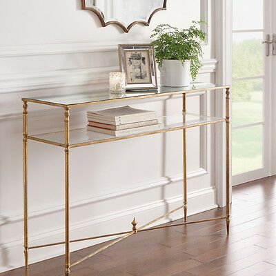 Horchow Sofa Console Table Barstow Regency Antique Gold Glass Minimalist Ebay Dining Room Console Table Dining Room Console Glass Console Table