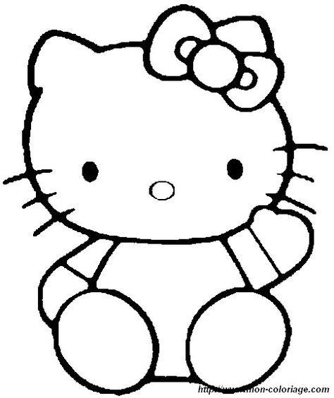 Ausmalbild Hello Kitty аппликация Colouring Pages Hello