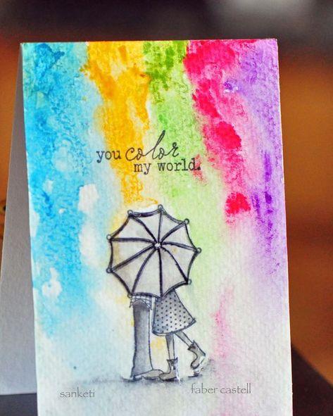 sweet card using gelatos // design memory craft