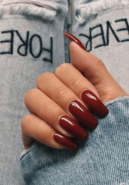 68 Trendy Nails Red Short Coffin Red Acrylic Nails Fake Acrylic Nails Nail Colors