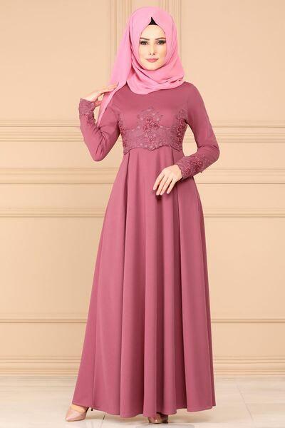 Modaselvim Elbise Gupur Detay Pileli Elbise 5516mp186 Gul Kurusu Dapatkan Baju Muslim Murah Hanya Di Lazada In 2019 Produk