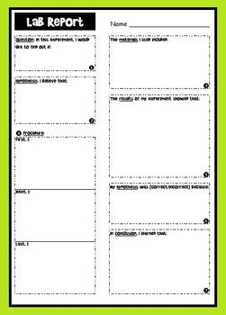Lab Report Graphic Organizer | Science Teaching | Science classroom ...