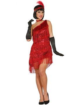 Disfraz Charleston Rojo Mujer Em 2019 Vestidos Fantasias