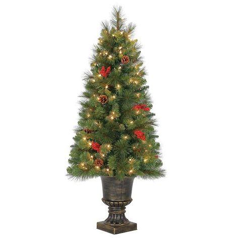 Ashland Christmas Trees.4ft Pre Lit Verona Artificial Christmas Tree Clear Lights