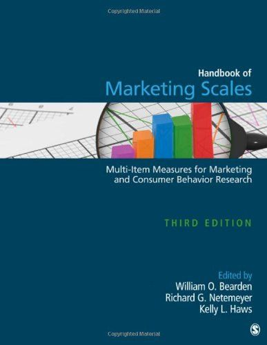 Handbook Of Marketing Scales Multi Item Measures For Marketing And Consumer Behavior Research Association For Consumer Consumer Behaviour Behavior Consumers