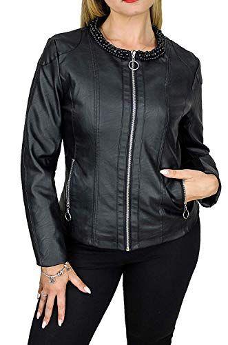 Malito Donna Giacca Biker Similpelle Giacca Sakko Blazer Faux Leather 5177