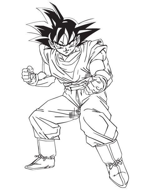 Dragon Ball Goku Coloring Page | HM Coloring Pages | Goku ...