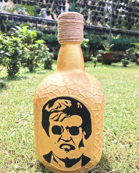Neruppu Da, Nerungu Da, Mudiyuma....! . . . .  #diy #diyhomedecor #bottleart #bottlepainting #creative #creativeartist #artistoninsta #artistoninstagram #decor #homedecor #etsy #etsyseller #etsyfinds @etsy #oldmonk @oldmonk_mumbai @oldmonkkarnataka #tamilmovies #kabali #thalaivar #rajinikanth @superstar_rajinikanth.fans @soundaryaarajinikant @rajinikanth #filmy