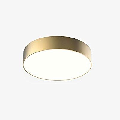 Amazon Com Wylolik Modern Ceiling Lamp 24w Led Lamp 15 Inch Gold Matte Finish Round Flush Modern Ceiling Lamps Bedroom Light Fixtures Office Lighting Ceiling