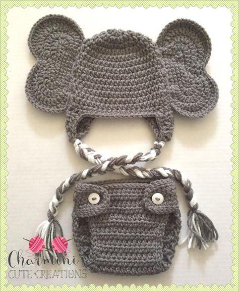 Newborn Baby Girls Boys Elephant Costume Baby Boy Girl Animal Knit ... | 578x474