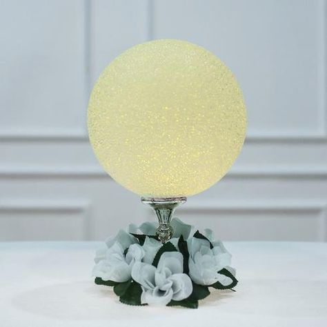 10 Color Changing Portable Led Centerpiece Ball Lights Battery Operated Led Orbs In 2020 Led Ball Lights Ball Lights Led Centerpieces