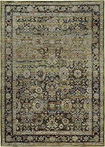 Chic Oriental Weavers Area Rug In Green And Brown 10 Ft 10 In L