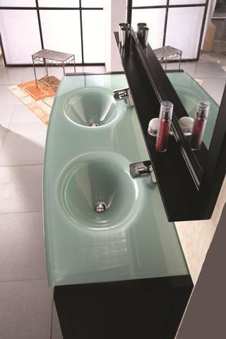 Waterfall 61 Double Sink Bathroom Vanity Set In Espresso Bathroom Vanity Makeover Double Sink Bathroom Vintage Bathroom Accessories