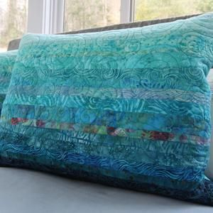 Quilted Pillow Shams Set Of Two Purple Modern Patchwork Etsy Quilted Pillow Shams Quilted Pillow Pillows King size quilted pillow shams
