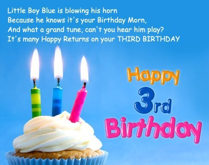 Happy 3rd Birthday Wishes Image Happy Birthday Images Wishes