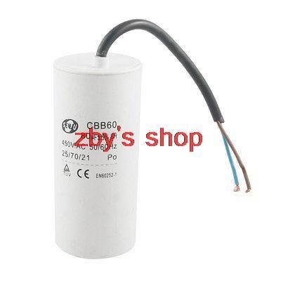 Cbb60 Polypropylene Film 80uf 450v Ac Sh Motor Run Capacitor White Capacitors Shopping Aliexpress