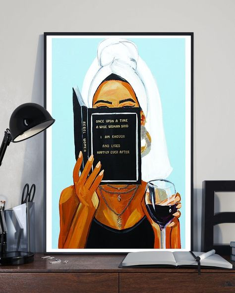 African - Black Art - Black Woman With Inspirational Quote - Black Art Vertical Canvas And Poster   Wall Decor Visual Art - Portrait Canvas / C - 12 x 16