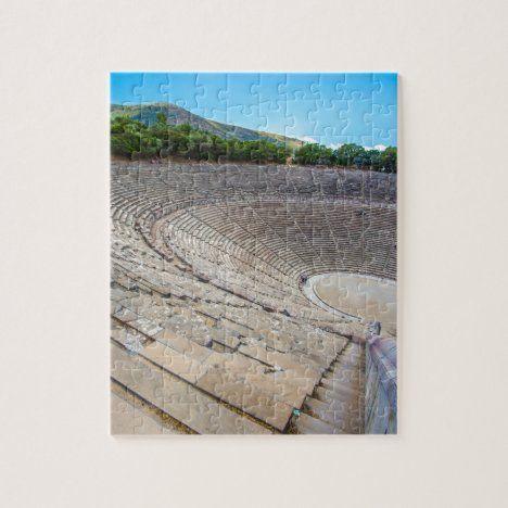 ancient theater in Epidaurus, Argolis, Greece Jigsaw Puzzle