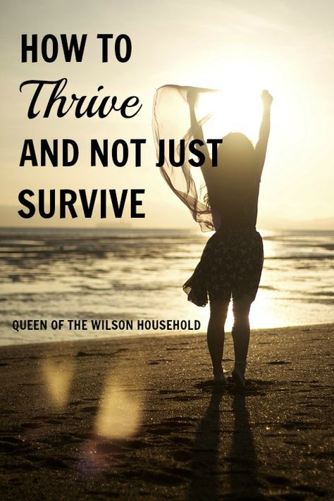 If you feel like you are surviving from day to day, check out these 4 tips to start thriving. They don't cost any money, but will change your life!