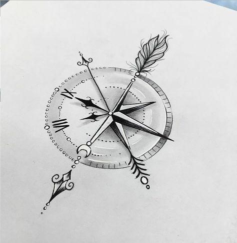 Tatto compass - clock ,  #clock #compass #tatto,  #Tattoo, Tattoo